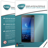 "2 x Slabo Displayfolie für OPPO Find 7a Displayschutzfolie Zubehör ""Crystal Clear"" KLAR - MADE IN GERMANY"
