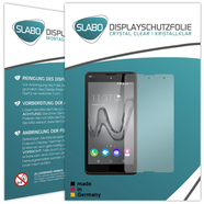 "2 x Slabo Displayfolie für Wiko Robby Displayschutzfolie Zubehör ""Crystal Clear"" KLAR - MADE IN GERMANY"