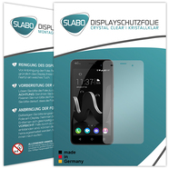 "2 x Slabo Displayfolie für Wiko Jerry Displayschutzfolie Zubehör ""Crystal Clear"" KLAR - MADE IN GERMANY"