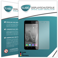"2 x Slabo Displayfolie für Wiko Lenny 3 Displayschutzfolie Zubehör ""Crystal Clear"" KLAR - MADE IN GERMANY"