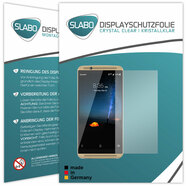 "2 x Slabo Displayfolie für ZTE Axon 7 Displayschutzfolie Zubehör (verkleinerte Folien, aufgrund der Wölbung des Displays) ""Crystal Clear"" KLAR - MADE IN GERMANY"
