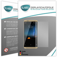 "2 x Slabo Displayfolie für ZTE Axon 7 Displayschutzfolie Zubehör (verkleinerte Folien, aufgrund der Wölbung des Displays) ""No Reflexion"" MATT - MADE IN GERMANY"