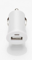 Slabo Mini Car Charger USB 1A for Apple iPhone 6S / iPhone 7 / iPhone 7 Plus / iPhone SE / iPhone 8 / iPhone 8 Plus Vehicle Truck Charger Adapter - WHITE