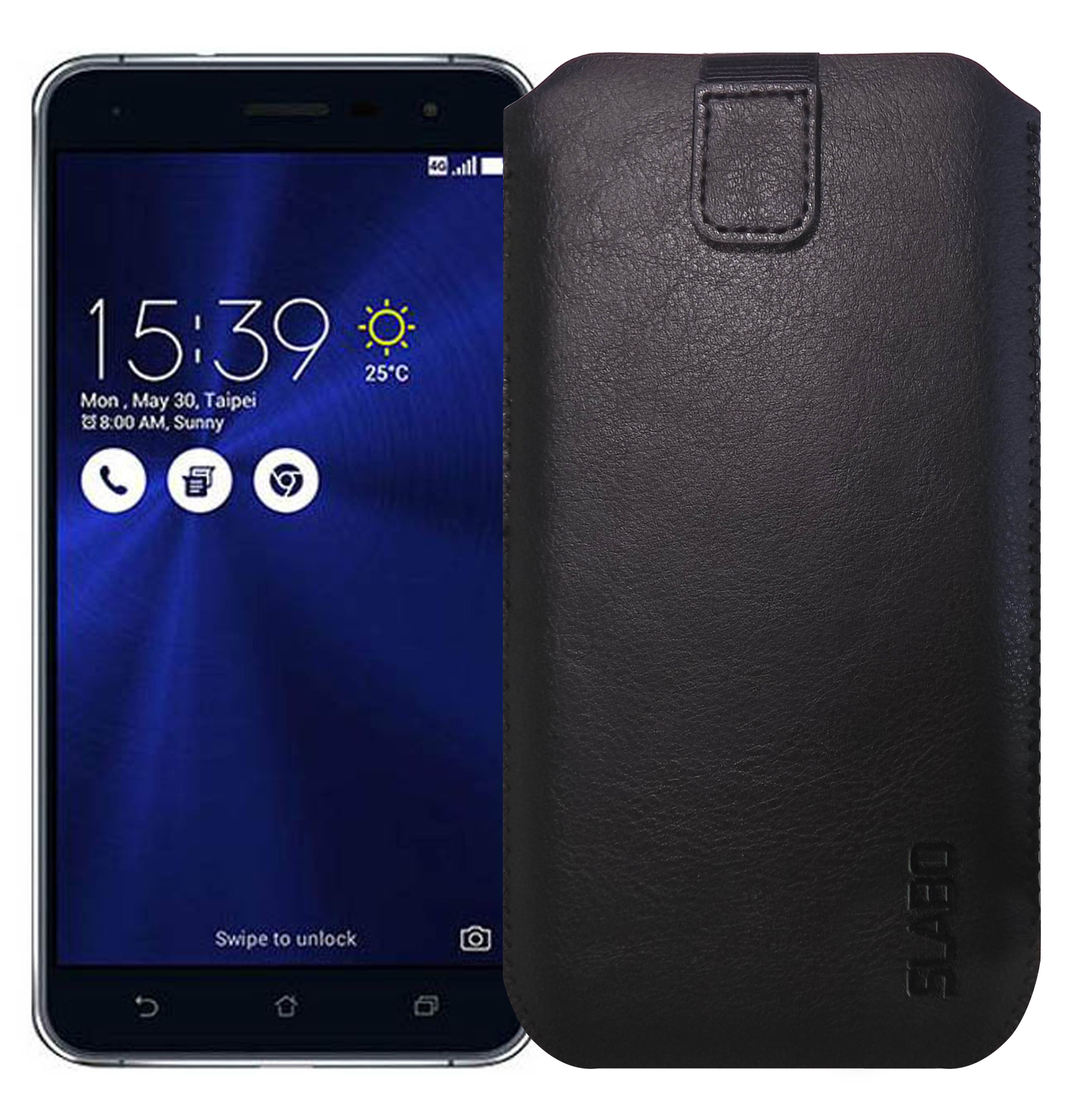 Product Slabo Case For Asus Zenfone 3 Ze520kl 55 Deluxe Zs570kl Ze552kl Protective Cover Pu Leather Black