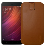 "Slabo Case for Xiaomi Redmi Note 4 Protective Cover ""PU-Leather"" - BROWN 