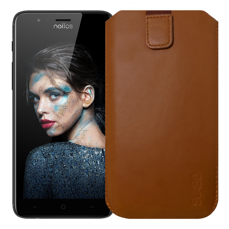 "Slabo Case for Neffos N1 Protective Cover ""PU-Leather"" - BROWN 