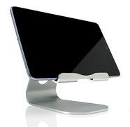 "Slabo Tablet Holder Stand for all Tablets | iPads etc. ""Aluminum"" - SILVER"