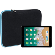 Slabo Tablet Case Cover for iPad 9.7 (2017) / iPad 9.7 (2018) Bag Protective Cover made of neoprene - TURQUOISE / BLACK