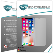 "2 x Slabo screen protector Apple iPhone XS | iPhone X screen protection film protectors ""No Reflexion"" MATTE - anti glare MADE IN GERMANY"