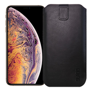 "Slabo Case for iPhone XS | X S Protective Cover ""PU-Leather"" - BLACK 