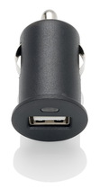 Slabo Mini Car Charger USB 1A for iPhone 11 | iPhone 11 Pro | iPhone 11 Pro Max | iPhone XS Max | iPhone XS | iPhone XR | iPhone X | iPad | iPad Air | iPad mini | iPad Pro Vehicle Truck Charger Adapter - BLACK