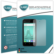 "2 x Slabo Film de protection d'écran Wiko Sunny protection écran film de protection film ""Ultra Clair"" invisible MADE IN GERMANY"